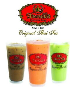 The Original Thai Tea Mix Powder Cha Tra Mue Number One Brand Halal Food