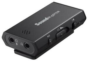 Creative Sound Blaster E1 SB1600 Portable Headphone Amplifier w Mic Dual Jacks $19.99