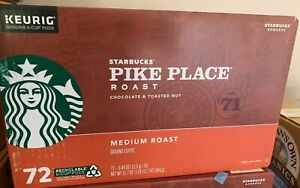 Starbucks Pike Place Coffee Medium Roast K Cups 72 count Free Shipping