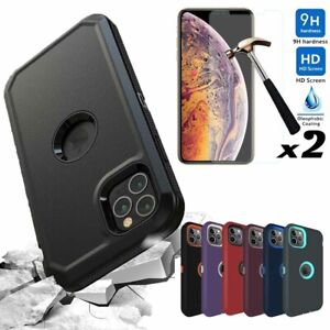 For iPhone 12 Pro 12 11 Pro Max Case Rugged Armor Phone CoverScreen Protector