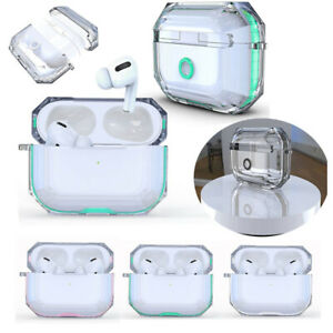 For Apple AirPods Pro Case Hybrid Armor Clear Cover Charging ProtectiveKeychain