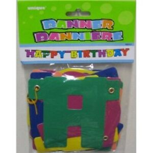 Happy Birthday Banner Jointed Party Decoration 9013