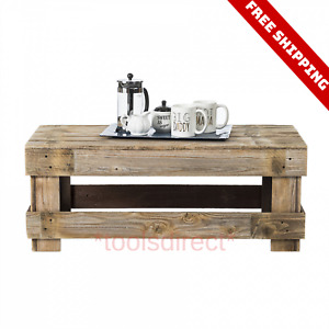 Natural Brown Solid Reclaimed Wood Coffee Table Home Room Furniture Stand