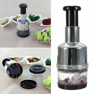 HOT Stainless Fruit Salad Vegetable Onion Hand Chopper type Kitchen G1Z5