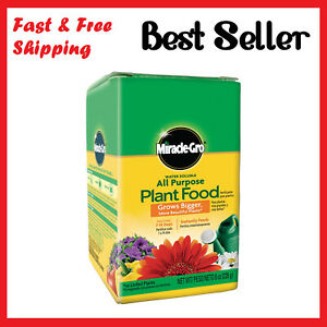 Miracle Gro Grow Houseplant Flowers Vegetable Garden All Purpose Plant Food New