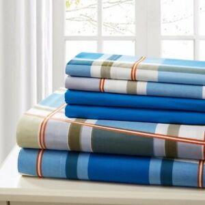 Sheet Set 6 Piece Bed Sheet Full Cotton Percale Luxury Extra Soft Deep Pocket
