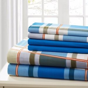 Sheet Set 6 Piece Bed Sheet King Cotton Percale Luxury Extra Soft Deep Pocket