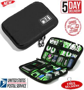 Travel Cable Organizer Electronic Accessories Bag for Phone USB Cable Black US $9.99