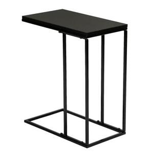 C shaped Side Sofa Snack Table Coffee Tray End Table Living Room Furniture Black