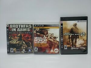 PS3 War lot Brothers in Arms HH Medal of Honor Warfighter Call of Duty MW2