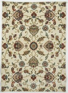 Transitional Machine Made White Multicolor Rug 5#x27;3 x 7#x27;6
