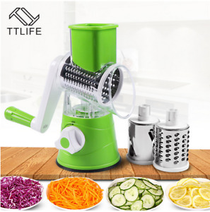 Stainless Cutter Round Mandoline Manual Fruit & Vegetable Tool Slicer Kitchen