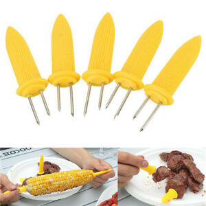 6pcs Jumbo Corn on the Cob Holders Skewers Prongs Kitchen Tool for BBQ Picnic
