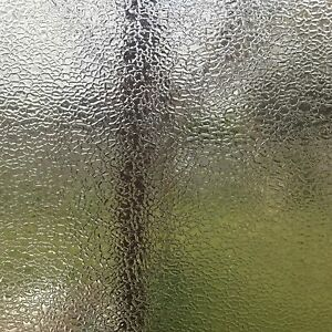 Rockrose Privacy Window Film Lightly-Frosted Non-adhesive Anti UV stained Glass