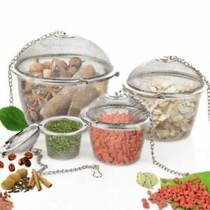 Stainless Steel Tea Filter Mesh Infuser Strainer Spoon Locking Spice Ball 3 Size