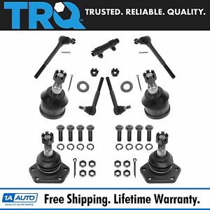 10 Piece Steering Suspension Kit Tie Rods Ball Joints Adjusting Sleeves New $84.95