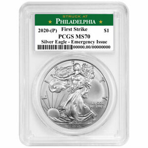 2020 (P) $1 American Silver Eagle PCGS MS70 Emergency Production FS Philadelphia $210.00