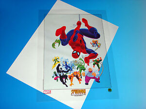 Spider-Man And His Spectacular Villains Lithograph Marvel Comics Romita Cel New