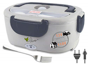 Electric Heating Lunch Box 110V/12V 2 in 1 Portable Electric Food Warmer Lunch
