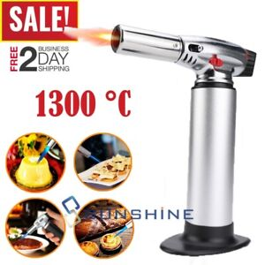 Refillable Kitchen COOKING TORCH Culinary Burner Creme Brulee Blowtorch
