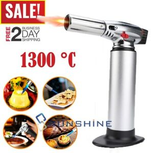 COOKING TORCH Refillable Kitchen Culinary Burner Creme Brulee Blowtorch