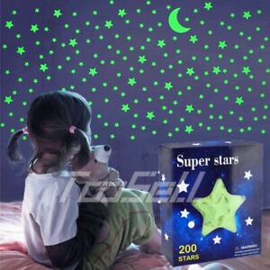 Glow in The Dark Stars Luminous Wall Stickers for Ceiling Wall Decor Kid Bedroom