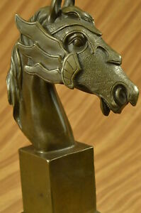 Horse Lovers 100% Solid Bronze Horses Head Bust Sculpture Statue Equestrian Sale $169.00