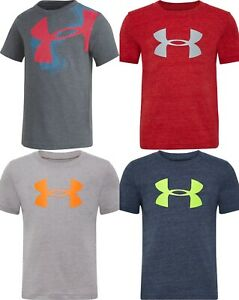 New Under Armour Boys Logo Short Sleeves Shirt Choose Size and Color $10.99