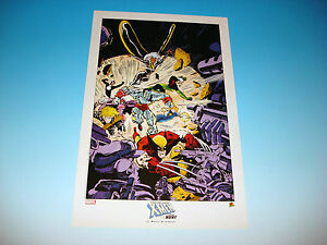 Uncanny X-Men Lithograph by artist Marc Silvestri The Hunt Marvel Comics