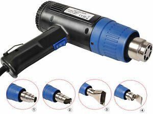 New Heat Gun Hot Air Gun Dual Temperature+4 Nozzles Power Tool 2000 W Heater Gun