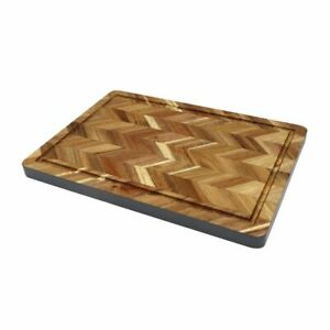 Acacia Wood Cutting Board Juice Groove Rectangle Chopping Serving Boards Wooden