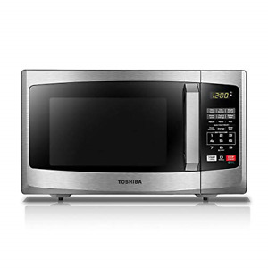 Microwave Oven Sound On/Off ECO Mode LED Lighting 0.9 Cu. ft/900W Stainless S...