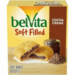 belVita Soft Filled Breakfast Biscuits, Cocoa Creme Flavor