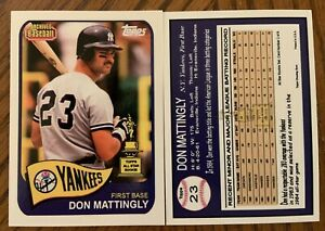 Don Mattingly 2020 Archives 1965 Style All Star Rookie What If Custom Card