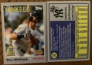 Don Mattingly 2020 Archives 1970 Style All Star Rookie What If Custom Card