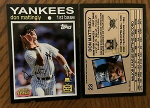 Don Mattingly 2020 Archives 1971 Style All Star Rookie What If Custom Card