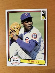 1982 Donruss Baseball Lee Smith RC #252 Chicago Cubs HOF NM