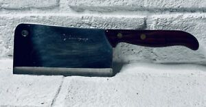 Vintage Kitchen Cutting Stainless Steel Chef Cleaver Italian Cutting Inoxide