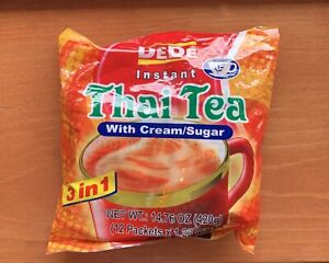 Dede Instant Thai Tea 3 In 1 With Cream/Sugar (12 Packets)