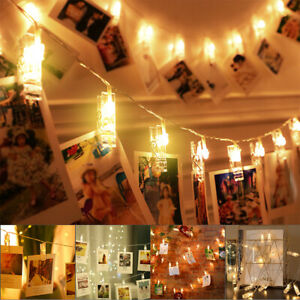20 LED Photo Clip String Lights Starry Fairy String Lights for Pictures Hanging