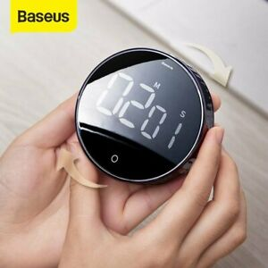 Baseus LCD Digital Timer Magnetic Yoga Countdown Stopwatch Kitchen Cooking Alarm