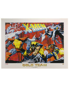X-Men Gold Team Lithograph Joe Quesada Marvel Comics Universe Limited Edition