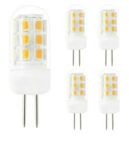 5 Pack G4 BaseDimmable Led Bulb 3W Warm White 3000k 320 lm. 35w Equivalent