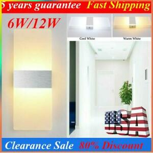 Modern LED Wall Light Waterproof Exterior Up Down Cube Sconce Lamp Fixture 6/12W