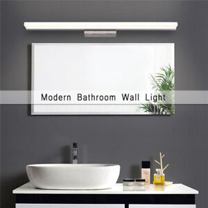 Toilet Bathroom LED Makeup Front Mirror Light Vanity Wall Lamp Bath Fixture Home