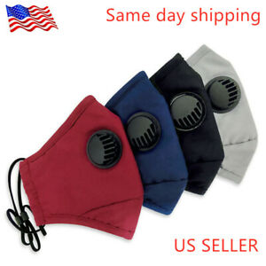 Cotton Reusable Face Mask With 1 Filter Washable Facemask PM 2.5 FREE SHIPPING