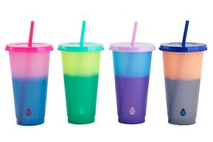 Tal 4 Pack 24 oz Solid Color Changing Tumblers Plain Free Shipping