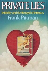 Private Lies: Infidelity & betrayal of Intimacy by Frank Pittman NEW hardback