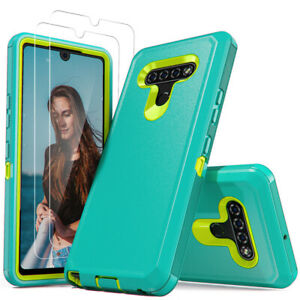 For LG Stylo 6 K51 Phone Case Shockproof Clear Cover With Glass Screen Protector $8.56