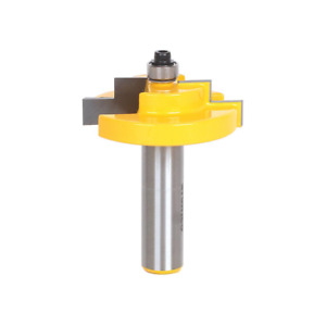 Stepped Rabbet 1 4 In. Glass 1 2 In. Shank Carbide Tipped Router Bit